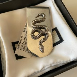 RARE  GUCCI STERLING SILVER KING SNAKE MONEY CLIP